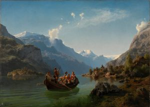 Adolph_Tidemand_&_Hans_Gude_-_Bridal_Procession_on_the_Hardangerfjord